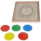 Kalttoy Montessori Material Madera Circular Fracciones Scoreboard Niños Juguete...