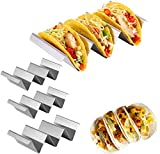 Taco Holder, Taco Rack Holders ,Good Taco Shell Holder Stand on Table with Handle, Hold 2 or 3 Hard or Soft Shell Tacos, Safe for Baking taco Truck Tray- Set of 4