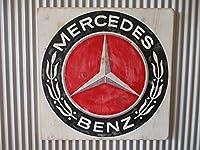 ビンテージサイン木製看板 メルセデスベンツガレージカスタムドイツ車プジョーシトロエンポルシェ300SL50s60s70s
