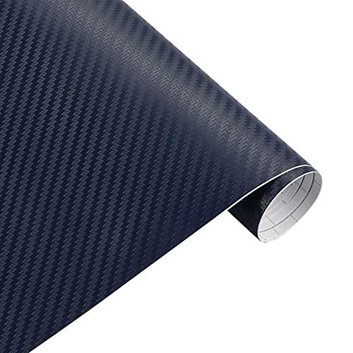 N\A Car Sticker 3D Carbon Fiber Vinyl Film 3M Car Stickers Waterproof DIY 200cm*30cm For Motorcycle Automobiles Car Styling Wrap Roll Accessories Stickers for Car (Color Name : 3D blue)