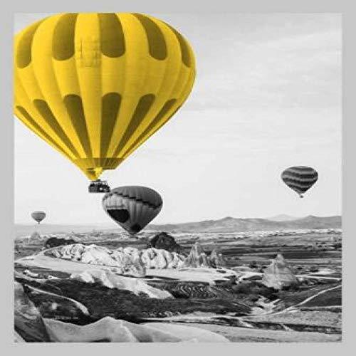 Gele ballon schilderij canvas muur kunst foto Nordic poster Parijs tour afdrukken foto van woonkamer decoratie