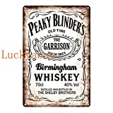 N/C British High Score Crime Drama Poster Whiskey Vintage Tin Sign Retro Metal Sign Shabby Chic Wall Decor 20x30cm SW570