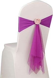 jingyuu Sillón Decoración Silla Cover Fundas de Silla Silla Asiento Decoración para Bodas Fiestas o como cumpleaños dekor...