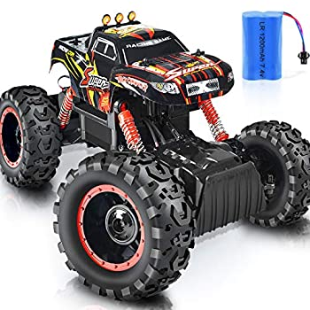 Remote Control Truck RC Car 1  12 Scale RC Truck 2.4Ghz Radio Remote Control Car RC Monster Vehicle Truck Crawler 4WD Off Road for Boys  Orange