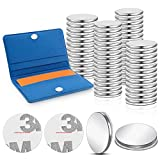 64 Pieces Combo Magnets Magnetic Snaps Large Small 2 Sizes Scrapbooking Magnets Disc Magnets with Adhesive Back for Paper Craft Shower Curtains Handbags Pouches Adding Snap Closures