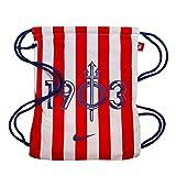 NIKE Atlético de Madrid Stadium Mochila con Cordones Fútbol, Adultos Unisex, Blanco (White/Sport Red/Deep Royal Blue), Talla Única