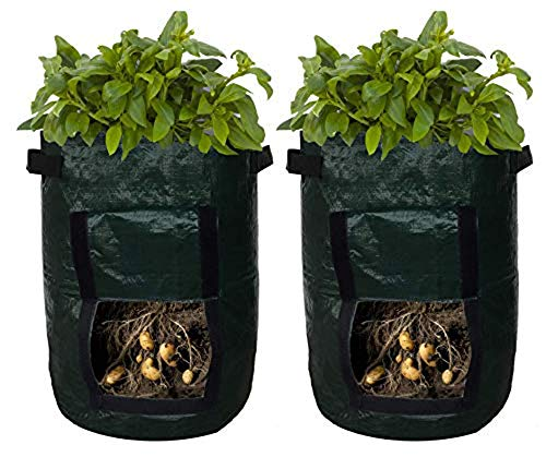 Potato Planter Bags - Garden Tub for Vegetable Growing with Flap Access