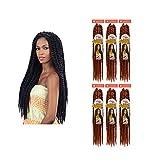 FreeTress Equal Natural Jumbo Twist 2X Cuban Crochet Braiding Bulk Hair (6 Packs) (1)