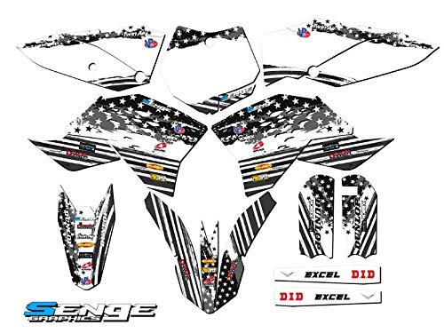 Surge Black Base Senge Graphics kit Compatible with KTM 2009-2015 SX 65