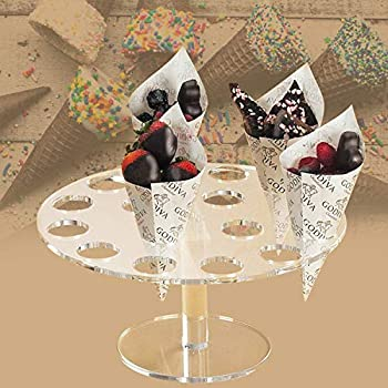 Ice Cream Cone Holder Clear Acrylic Cone Display Stand Weddings Baby Showers Birthday Parties Anniversaries Christmas Candy Decorative  16 Hole