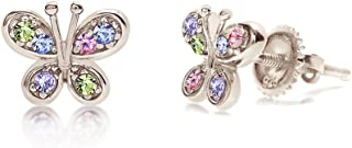 Chanteur Crystal Butterfly Kids Baby Girl Earrings with Swarovski Elements