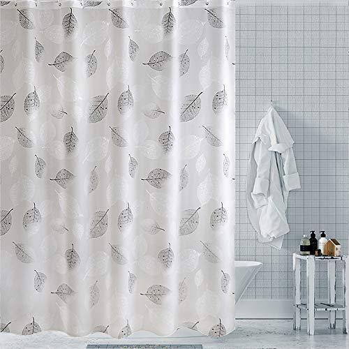 WEIXINHAI Duschvorhang mit Badezimmerfutter, 72 x 80 Zoll Duschvorhang, aus 100prozent PEVA, Duschvorhang, Duschverkleidung, Rostschutzdichtung, wasserdichter Duschvorhang mit 3D-Effekt.