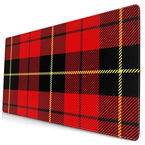 Preisvergleich Produktbild Wallace Tartan Plaid Scottish Cage 40 x 75 cm Mausmatte,  mittelgroße rutschfeste Gummibasis