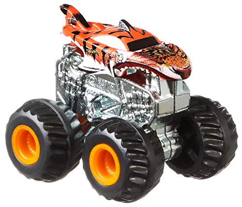 Hot Wheels GBR24 - Monster Trucks Blindpack mit 1 Mini Truck, 1 Starter und 1 Sticker in zufälliger Auswahl, Spielzeug ab 3 Jahren