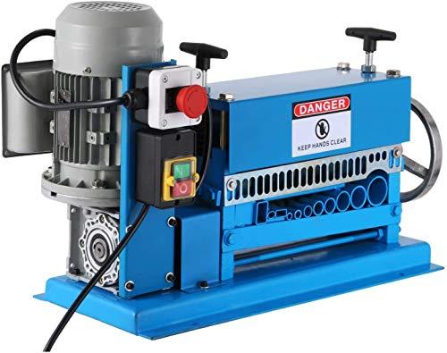 VEVOR 1.5-38MM Macchina Automatica per Spelafili 370W 15 M/min Tipi di Spelafili per Cavi in Metallo Spellacavi Elettrici con 10 Lame