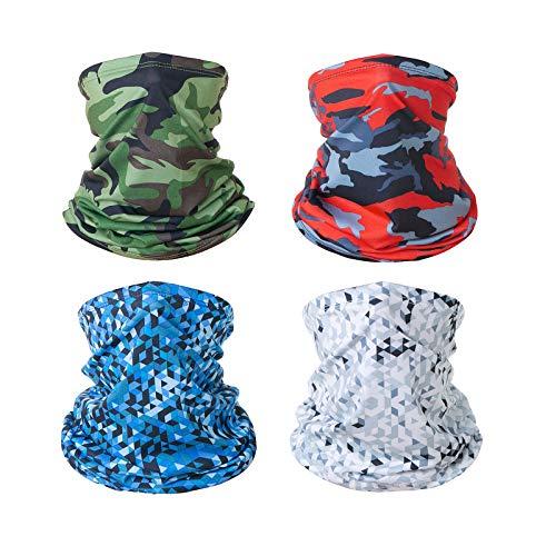 ARKIM Bandana Sturmhaube Halstuch, Multifunktionale Tuch waschbar Damen Herren Stirnband Schal Kopfbedeckung für Outdoor Sport (C (4 Camouflage))