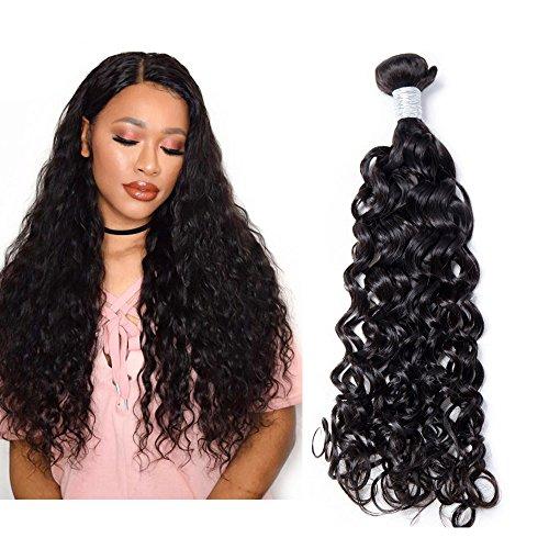 """Mila Naturel Tissage Boucles Bresilienne Meches Vierge 8A 100gram/pc 100% Humain Cheveux Natural Wave Noir Hair 24""""/60cm"""