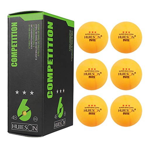 chora 6 Pcs 3 Star Table Tennis Balls, 40mm Diameter 2.9g Table Tennis Ball for Competition and Training