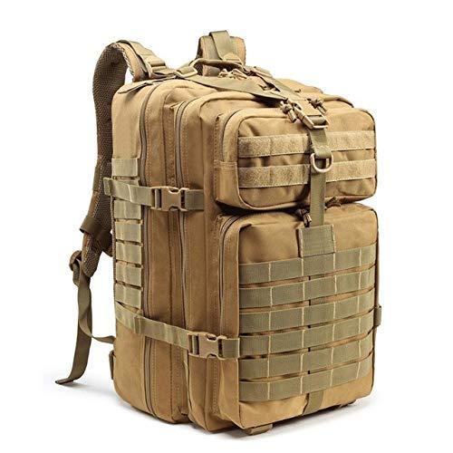 Hjkl 45L étanche armée Sac à Dos Tactique Molle Militaire Bug Out Sac assaut pour Homme Chasse Voyage randonnée Sac à Dos en Plein air Sac à Dos-Kaki