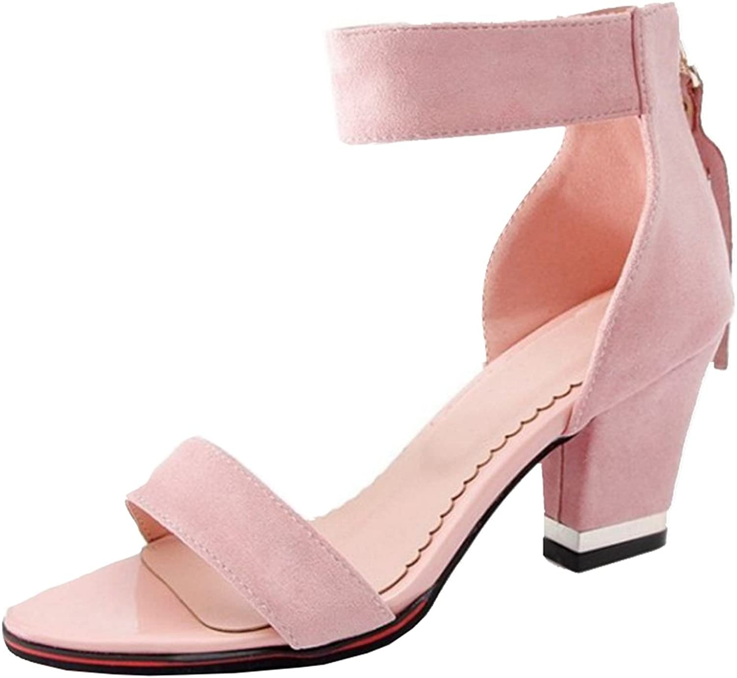 SJJH Fashion Sandals with Mini Large Size Available Cute Sandals with High Chunky Heel for Women
