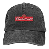 SJIEXZ Bud-wei-ser Be-er lo-go Men Women Baseball Cap Cotton Running Sport Baseball Cap Adjustable Dad Hat Black(5)