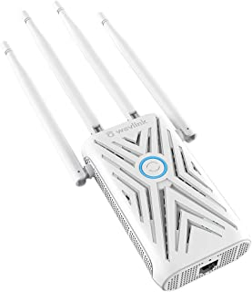 Wavlink AC1200 Dual Band WiFi Extender Singal Booster with 4 High Gain Antennas & Cooling Holes, 2.4G+5G 1200Mbps Access P...
