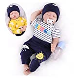 CHAREX Reborn Baby Dolls Realistic Baby Reborn Dolls 22 Inch Weighted Real Baby Dolls Soft Vinyl Silicone Baby Reborn Dolls for Age 3+