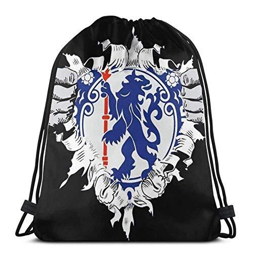 ANGSHI6 Drawstring bag unisex classic sports backpack storage bag travel bag Logo Chelsea