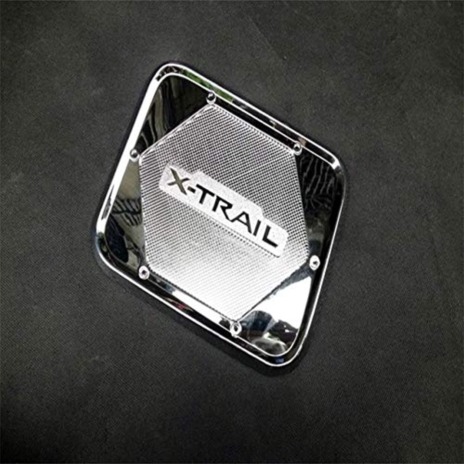 For Nissan Xtrail XTrail X Trail 2014 2015 2016 ABS Chrome Sticker Cover Tank Cover Styling Acessories  (color Name  Black)