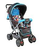 LuvLap Sunshine Stroller/Pram, with Mosquito net, for Newborn Baby/Kids, 0-3 Years