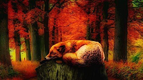 1.000 houten puzzels voor volwassenen, prachtige foto's van vossen die in het bos rusten, kunnen worden gebruikt voor huisdecoratie