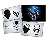 UMR-Design AS-062 ami Skull Airbrush Stencil Template Step by Step Size L