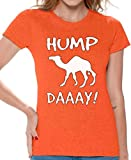 Awkward Styles Women's Hump Day Wednesday Camel Graphic T Shirt Tops Orange XL