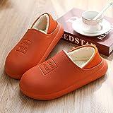 Sonze Zapatillas de Invitados,Pantuflas de algodón Antideslizantes Impermeables, Bolsa de Suela Gruesa para posparto con Zapatos de confinamiento-Orange_38-39,Zapatillas de Invitados