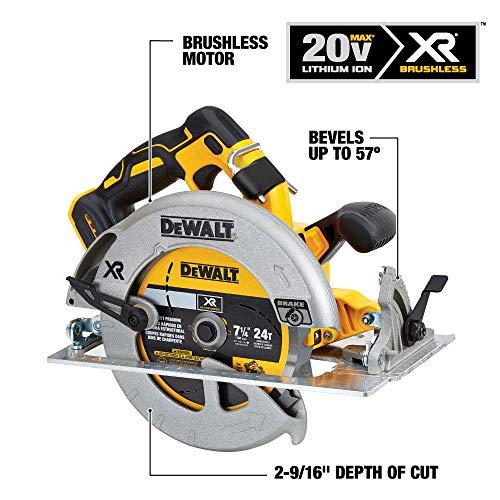 DEWALT 20V MAX 7-1/4-Inch Cordless Circular Saw with Brake Kit (DCS570P1)