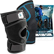 Knee Braces for Knee Pain - Adjustable Knee Brace for Meniscus Tear, Arthritis, MCL, ACL - Neoprene Knee Stabilizer and Sleeve Support for Working Out - Fits Men and Women