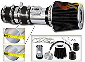 Rtunes Racing Short Ram Air Intake Kit + Filter Combo BLACK Compatible For 09-14 Acura TL 3.5L / 2010 Acura TL 3.7L / 09-12 Honda Accord / 10-12 Honda Crosstour 3.5L