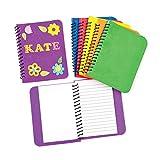 Baker Ross- Cuadernos de Notas de Espuma (Pack de 6) -ideales para...
