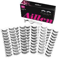 powerful Airen False Eyelashes 50 Pairs 5 Fashion Style False Eyelashes Reusable False Eyelashes Multi Pack …