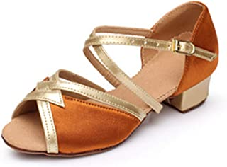 lcky Dance Shoes Women's Dance Low with Salsa Shoes Latin Sandals