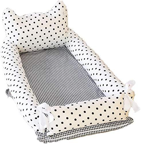 YYhkeby Cuna plegable de algodón de doble capa, colchón biónico portátil multifuncional para bebé recién nacido desmontable Jialele (tamaño: C)