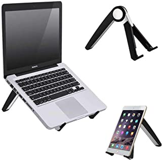 PG ノートパソコン スタンド ノートPCスタンド ラップトップ タブレットスタンド 収納簡単 携帯型 軽量アルミ合金・エルゴノミクス・折りたたみ式・高さ・角度調整・姿勢・放熱対策 (黒)