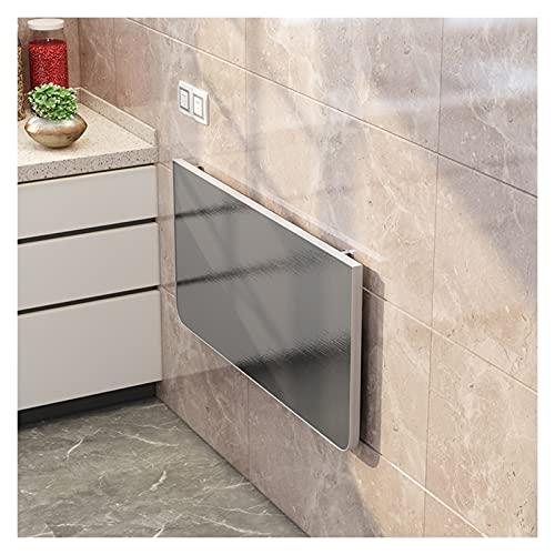 AWSAD Mesa Plegable Cocina Pequeña Encimera de Cocina para el Hogar Mesa de Corte Acero Inoxidable Escritorio Flotante, Varios Tamaños (Color : A, Size : 40X80cm)