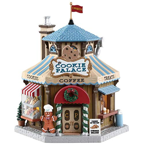 Lemax 85363 The Cookie Palace, New 2019 Caddington Village Collection, Porcelain Colorful Decorated Miniature Lighted Building, X'mas Decor/Gift/Collectible, On/Off Switch, 7.95' x 7.09' x 6.30'