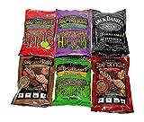 BBQrs Delight Wood Smoking Pellets - Super Smoker Variety Value Pack - 1 Lb. Bag - Apple, Hickory, Mesquite, Cherry, Pecan and Jack Daniel's (Renewed)