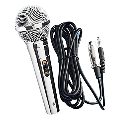 Professional Metal Dynamic Microphone for Karaoke Singing with Cable 4m Jack 6.3mm Dynamic Microphone for Karaoke Speaker Sing Recording