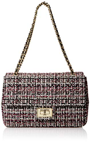 Karl Lagerfeld Paris womens Agyness Large Shoulder Bag, Merlot, One Size US