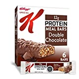 Tasty meal bars made with a satisfying blend of crispy soy and corn puffs, chocolatey chips and a coating of chocolate flavored deliciousness Fuel up with the irresistible taste of Special K Double Chocolate Protein Meal Bars; with delicious ingredie...