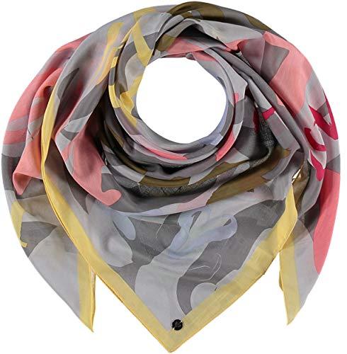 FRAAS Damen Tuch LOVE-Print 103 x 103 cm Rosafarben