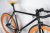 Varas de pared para colgar bicicleta Dublin - de madera de fresno, disponible en colores distintos - eficaz y elegante (blanco)
